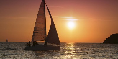 Counselling sailing sunset